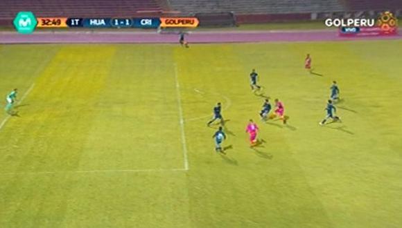Luis Trujillo empató el marcador en Huancayo con un gran remate | Foto: captura