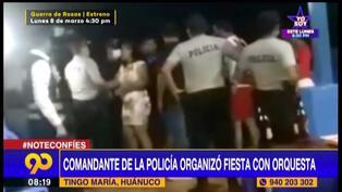 Comandante de la Policía realizó fiesta de cumpleaños a su esposa con más de 60 invitados