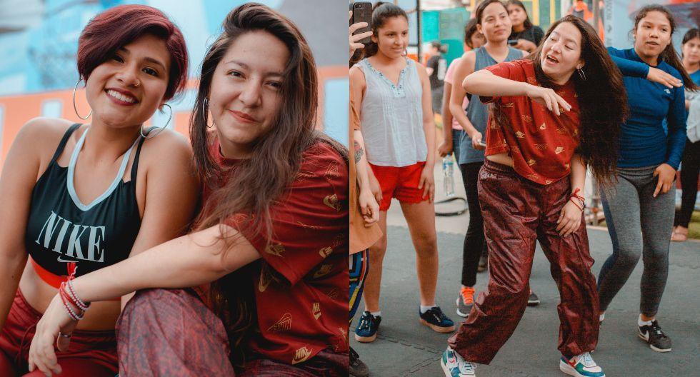 Gabriela Flores y Genoveva Huerta participan en diversos proyectos culturales. El más reciente fue una clase maestra, organizada por D1 y Nike, en el Centro de Alto Rendimiento de Alto Perú, en Chorrillos. (Foto: Iceberg)
