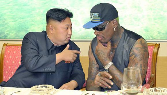 Kim Jong-un junto a Dennis Rodman en Corea del Norte. (Foto: KCNA)