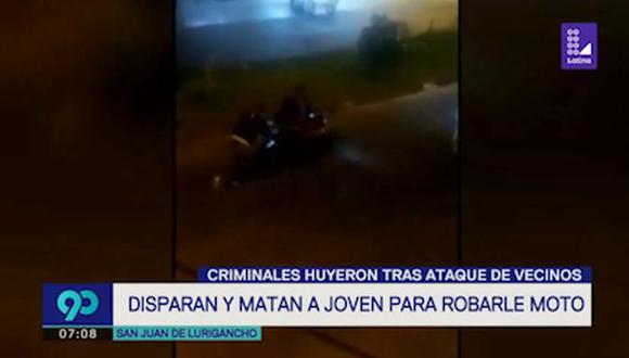 El crimen ocurrió en la urbanización Buenos Aires, en San Juan de Lurigancho. (Latina)