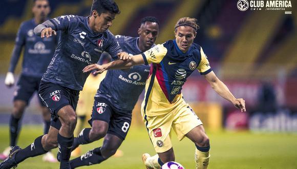 América derrotó 1-0 a Atlas en la fecha 15 de la Liga MX | Foto: @ClubAmerica