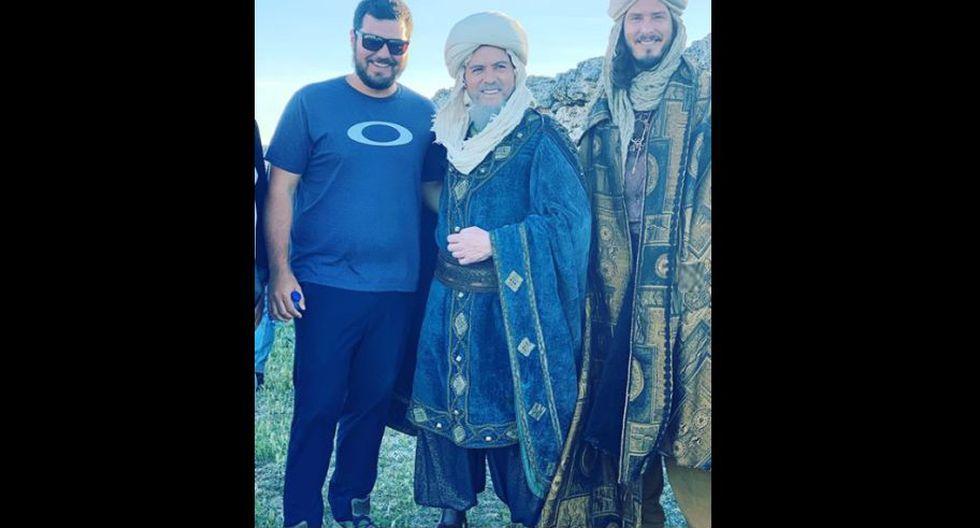 """Cristian Rivero interpreta a un Rey Mago en la película española """"El niño Dios"""". (Foto: Instagram)"""