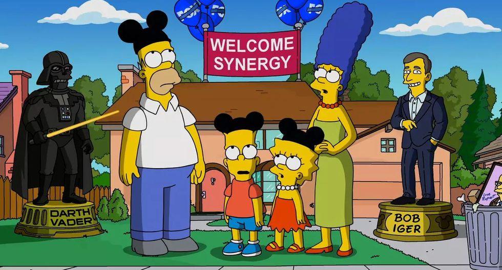 """No es la primera vez que """"Los Simpson"""" bromean sobre Disney. (Fuente: Fox)"""