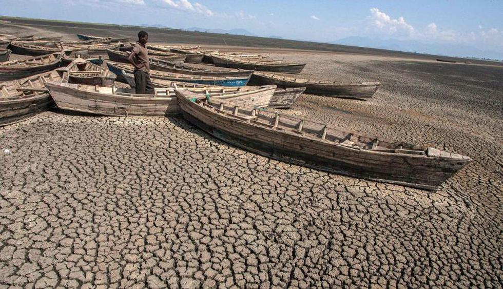 """""""Algunos pescadores se fueron al lago Malaui"""", a un centenar de kilómetros al norte, """"mientras otros aceptaron trabajos temporales en el cultivo del arroz"""", explica un aldeano, Julius Nkhata.   Foto: AFP"""