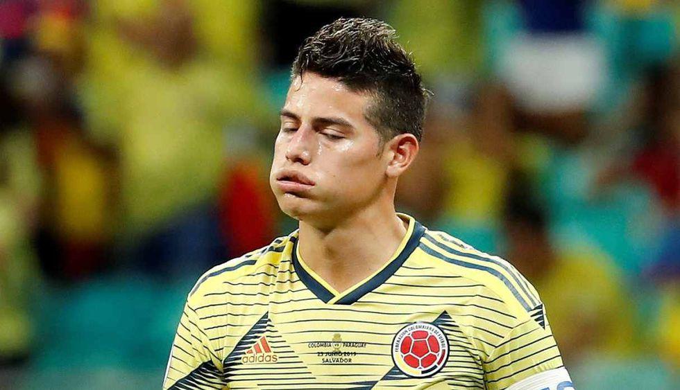 James Rodríguez lamentó la eliminación de Colombia en la Copa América 2019. (Foto: EFE)