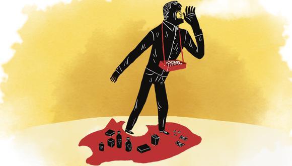 """""""Debemos facilitar el empleo y el despido de trabajadores. En segundo lugar, reformar de raíz el régimen de protección social desvinculándolo del empleo"""". (Ilustración: Víctor Aguilar)"""