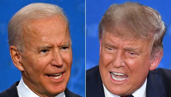 Joe Biden y Donald Trump debatieron el martes en Cleveland durante 90 minutos. (Fotos: JIM WATSON and SAUL LOEB / AFP).