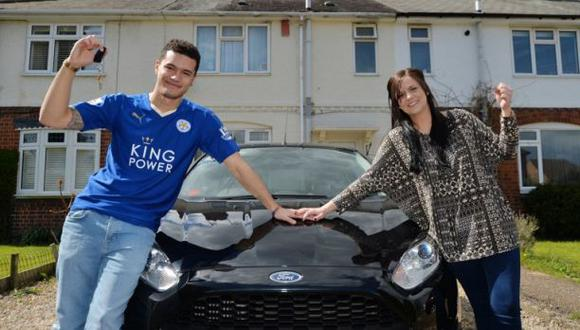 Leicester City: fan apostó y ganó casa, auto y vacaciones