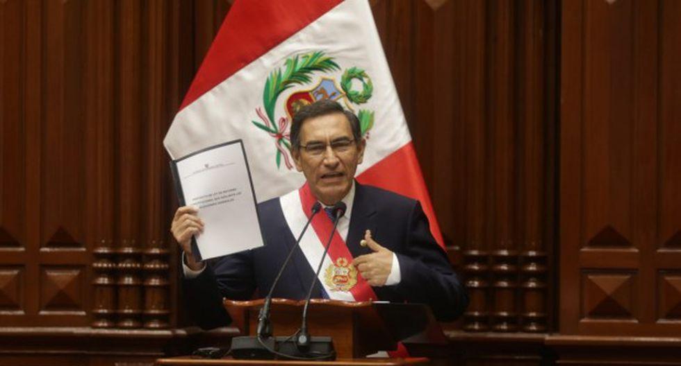 El presidente de la República, Martín Vizcarra, planteó al Congreso una reforma constitucional para adelantar las elecciones generales en el 2020