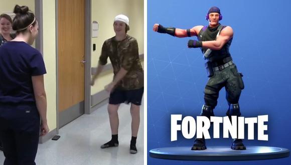 Adolescente celebró su salida del hospital con un desafío de bailes de Fortnite. (Foto: Children's Healthcare of Atlanta en Facebook/EPIC Games)
