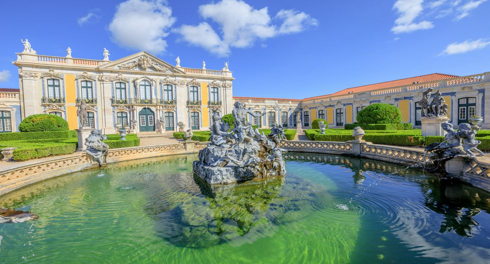 La fuente de Neptuno del Palacio Nacional de Sintra data de 1677.  Foto: Istock