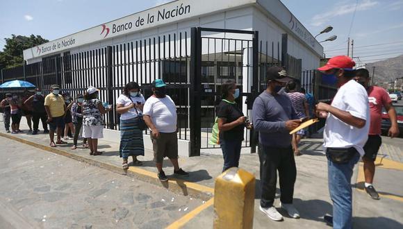 """El Gobierno ha establecido cronogramas de pago del """"Bono 600 soles"""" para promover un cobro ordenado, rápido y evitar aglomeraciones. (Foto: Jesus Saucedo / GEC)"""