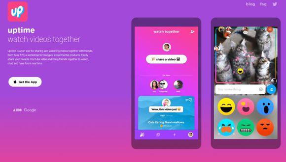 Su sistema de reacción mediante emojis se ha inspirado en otros servicios de video como Instagram, Facebook Live o Periscope. (Foto: Uptime)