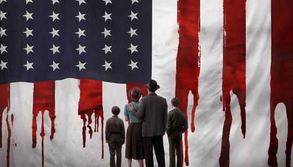 """Arte promocional de """"La conjura contra América"""", serie basada en el libro homónimo de Phillip Roth sobre una realidad alterna donde Estados Unidos cae en manos de los nazis. Foto: HBO."""