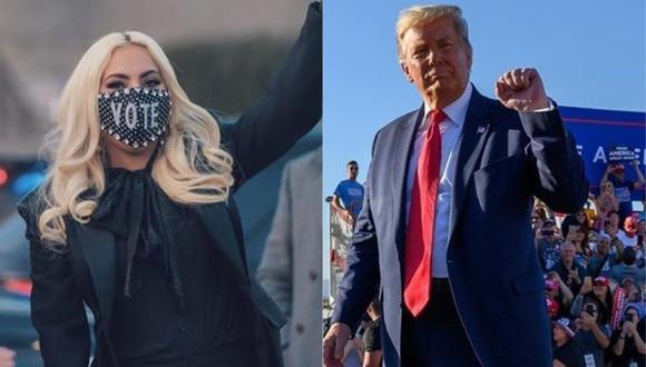 Lady Gaga y Donald Trump intercambiaron ataques en Twitter. (Foto: @ladygaga/@realdonaldtrump)