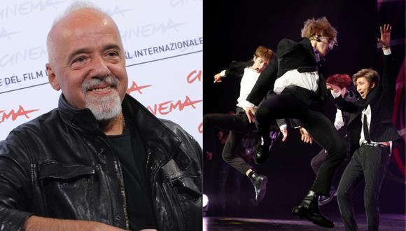 """Paulo Coelho defiende a BTS y asegura que son la """"banda más importante del mundo"""". (Foto: AFP/Tiziana Fabi/ Yoan Valat)"""