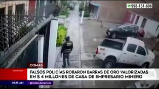 Comas: sujetos vestidos de policías robaron barras de oro valorizadas en 4 millones de dólares