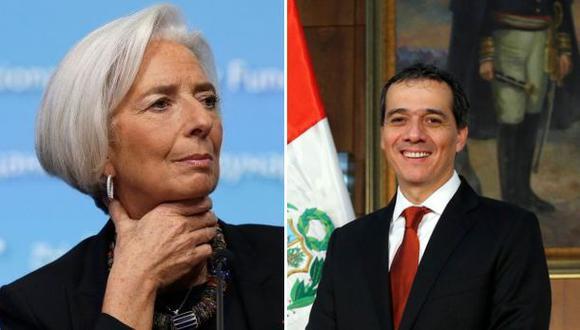 Christine Lagarde y el ministro Segura dialogaron sobre Perú