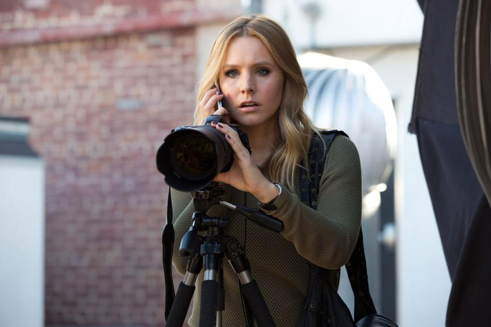 """""""Veronica Mars"""" (2014) - Seven years after the end of the series, Bell would return to the role of Veronica Mars in a movie made possible thanks to mass financing.  Five years after this premiere, he would return to the same role in a fourth season of the series.  (Photo: Warner Bros. Pictures)"""
