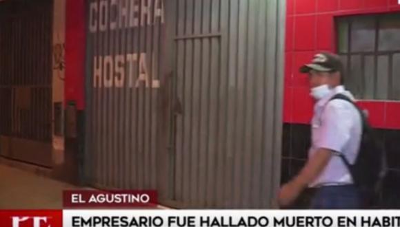 En El Agustino fue hallado el cuerpo sin vida de el dueño del hostal. (Captura: América Noticias)