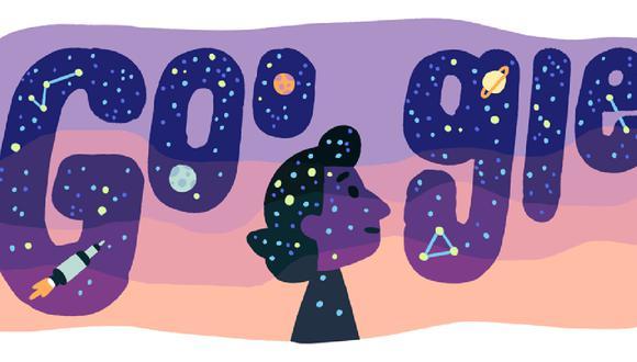 Google le rinde homenaje  a la astrofísica turca Dilhan Eryurt. (Foto: Google)