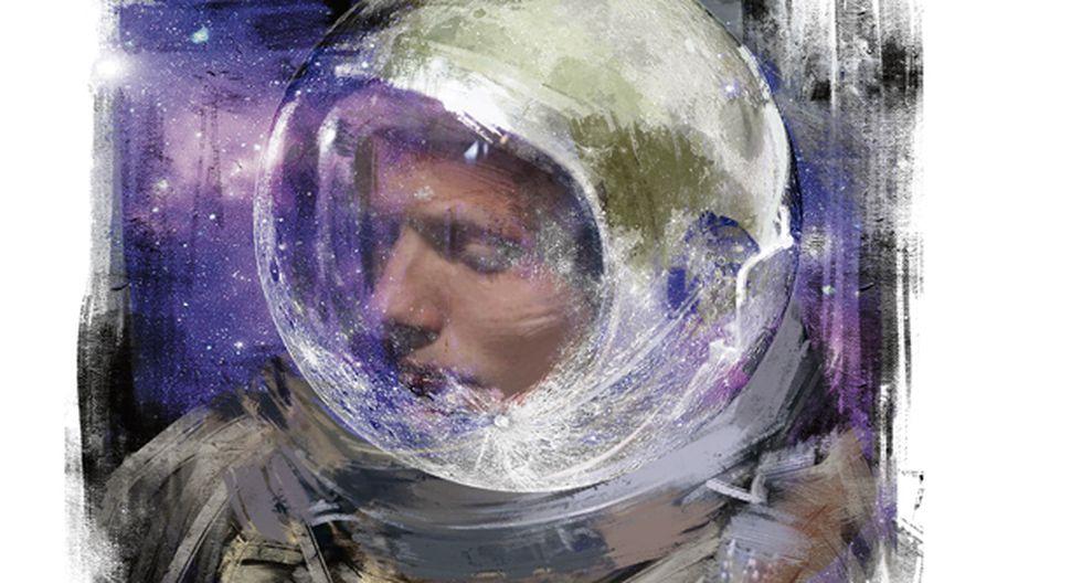 """""""Después del viaje a la Luna, Armstrong se retiró de la aviación espacial, se dedicó a la enseñanza, y llevó una vida en el campo, solo interrumpido por un viaje al Polo Norte y a Escocia, la tierra de sus antepasados"""". (Ilustración: Giovanni Tazza)."""