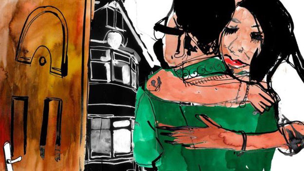 Su padre la repudió, pero ella lo extraña muchísimo. Ilustración: BBC Mundo