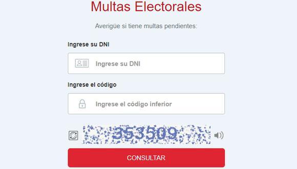 Conoce en esta nota cómo puedes proceder con el pago de la multa electoral si no votaste en la segunda vuelta del 6 de  junio   Imagen: Captura JNE