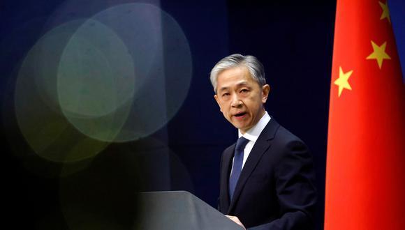Wang Wenbin, jefe de la diplomacia china. REUTERS/Thomas Peter