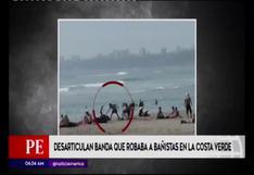 Costa verde: desarticulan banda que asaltaba a bañistas