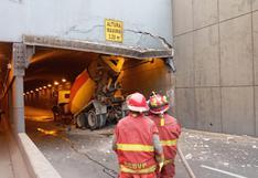 Óvalo Higuereta: camión mezclador de concreto daña estructura de bypass por no respetar altura