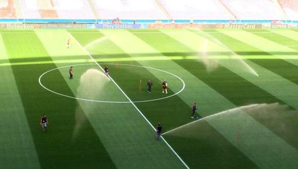 Así luce la cancha a un día de la final de la Champions League