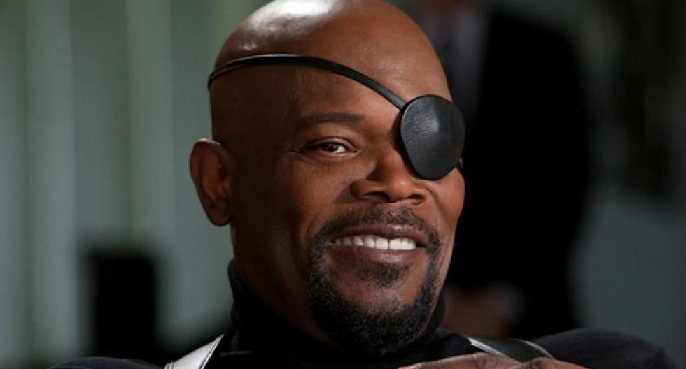 "Samuel L. Jackson descubre error en parche de Nick Fury en afiche de ""Spider-Man: Far From Home"". (Foto: Marvel Studios)"