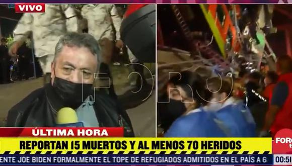 El relato de un sobreviviente al accidente en Ciudad de México, que deja al menos 23 muertos y 70 heridos. (Captura de video/Foro TV).