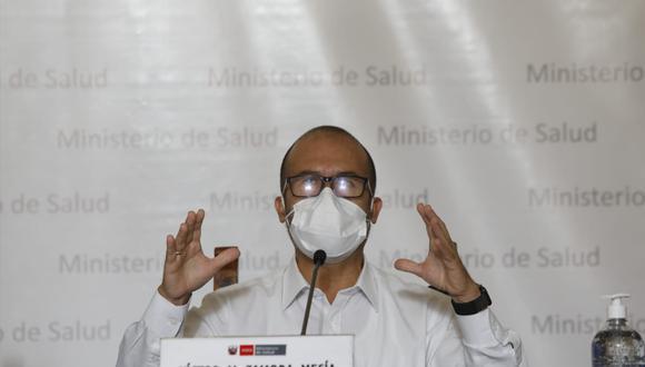 El ministro de Salud, Víctor Zamora descartó una eventual manipulación de la información de muertos por COVID-19 (Fuente:GEC)