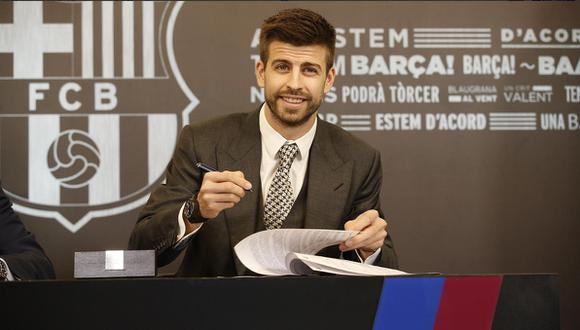 """Piqué renovó con Barcelona: """"Si no seguía aquí dejaba el fútbol"""""""