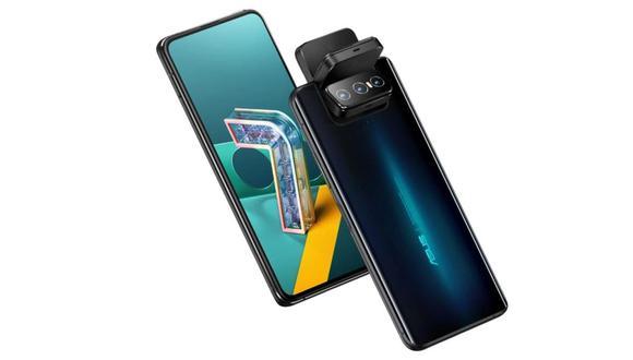 El Asus Zenfone 7 tiene un bloque de tres cámaras que rota, para usarse como cámara trasera o delantera (queda elevado por encima de la pantalla). (Difusión)