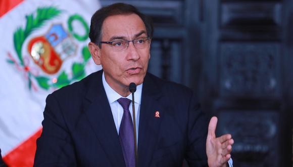 Congreso debatirá admisión de segunda moción de vacancia contra el presidente Martín Vizcarra (Foto: Presidencia del Perú)