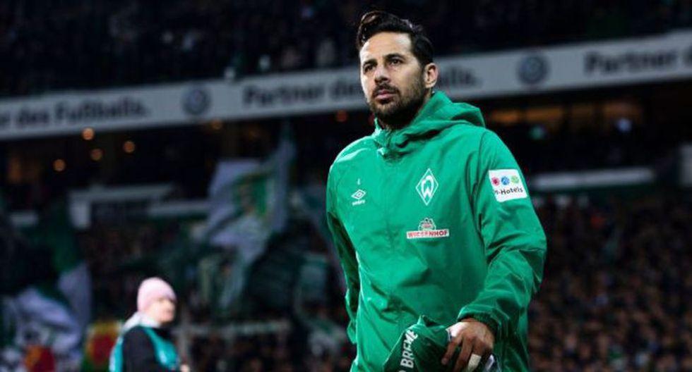 Claudio Pizarro lleva solo dos goles en la temporada, los cuales fueron anotados en la DFB Pokal. (Foto: AFP)