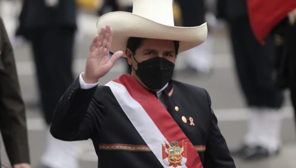 El presidente Pedro Castillo tocó el tema de la seguridad ciudadana durante su primer discurso a la nación como jefe del Estado   Foto: Anthony Niño de Guzmán / @photo.gec
