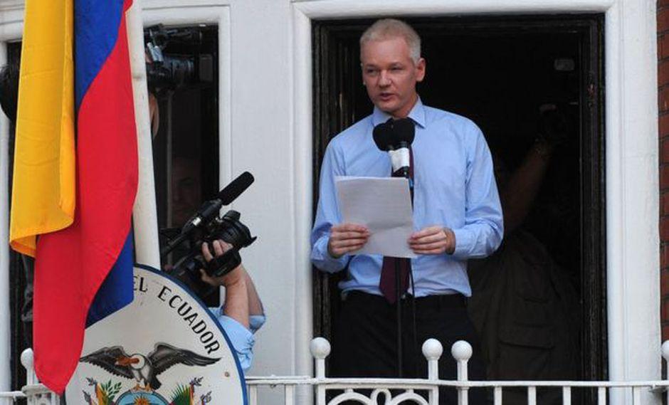 Julian Assange pidió asilo en la embajada de Ecuador en Londres en 2012. Foto: Getty images, vía BBC Mundo