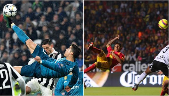 Raúl Ruidíaz también sabe hacer golazos con definiciones arriesgadas como la que logró Cristiano Ronaldo frente a la Juventus por la Champions League. (Foto: AFP / Liga MX)