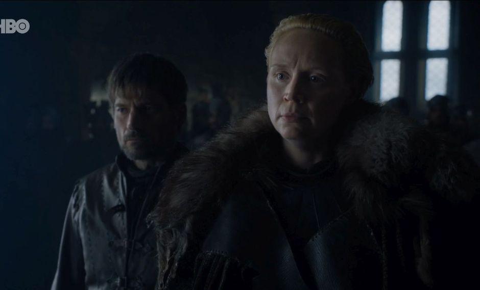 Game of Throne 8x02: Jaime Lannister le cumple el mayor sueño de Brienne de Thart. (Foto: HBO)
