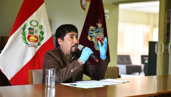 Cáceres Llica ha sido duramente cuestionado por su gestión de la pandemia, al punto que en julio el Ministerio de Salud intervino la región para hacerse cargo de la situación en reemplazo del gobierno regional. (Foto: Gobierno Regional de Arequipa)