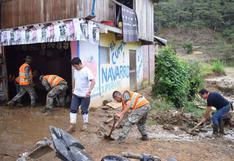 Junín: entregan ayuda humanitaria a damnificados por deslizamiento en Perené