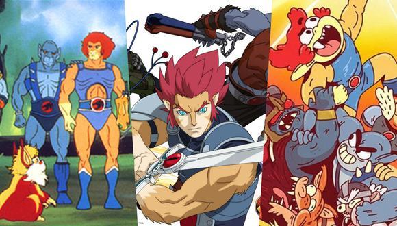 """De izquierda a derecha, las tres versiones de los """"Thundercats"""": 1985, 2011 y 2020. Adam Wingard, director de """"Death Note"""" y """"Godzilla vs. Kong"""" le dará nueva vida a este clásico de la animación. Fotos: Warner Bros."""