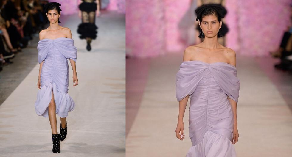 Tras su debut en el fashion show de Loewe, la modelo peruana Patricia del Valle ha sorprendido en la pasarela del romántico diseñador italiano Giambattista Valli. (Fotos: AFP/ IG: @patricia_delvalle)
