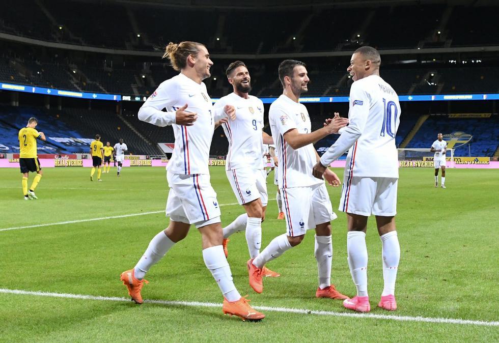 Francia vs. Suecia: UEFA Liga de Naciones. (Foto: AFP)