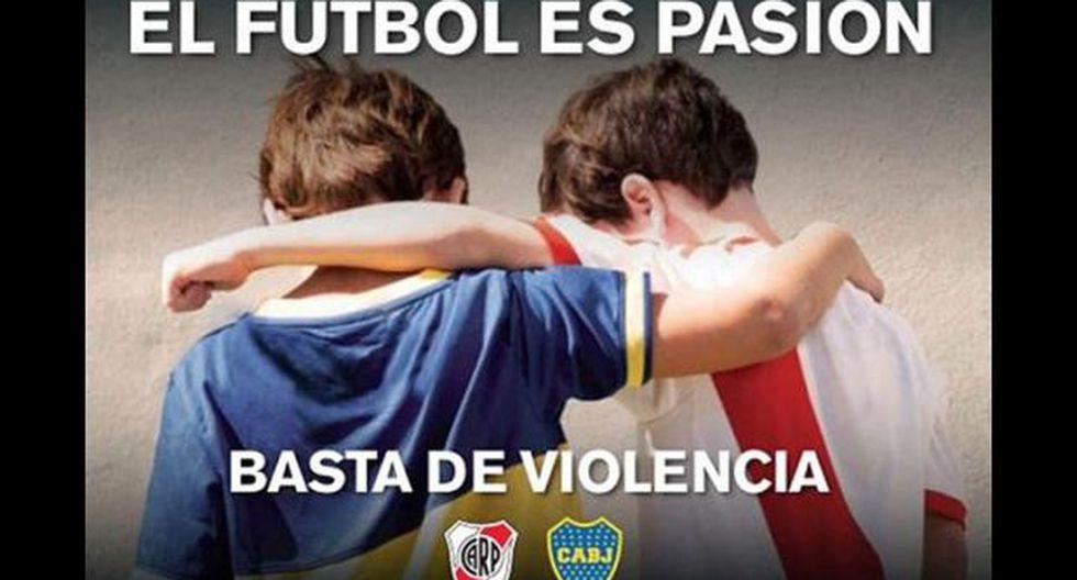 Boca-River: el afiche que empapelará la ciudad de Buenos Aires